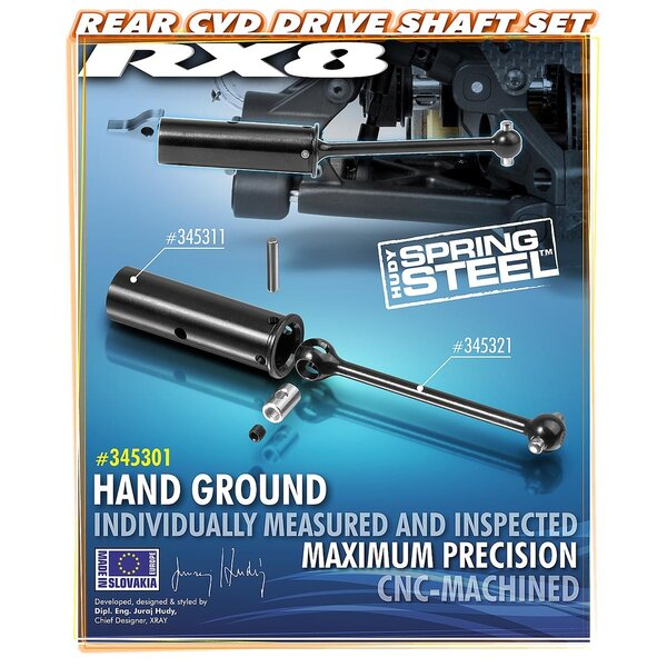 REAR CVD DRIVE SHAFT SET - HUDY SPRING STEEL™
