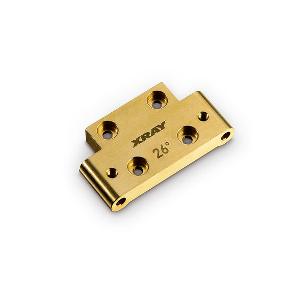 BRASS 46G FRONT LOWER ARM MOUNT 26° KICK-UP