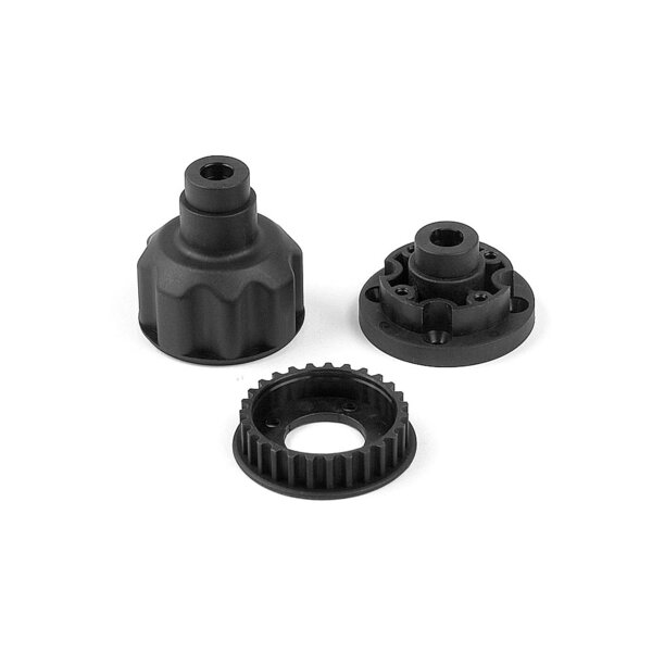 COMPOSITE FRONT DIFF. CASE, COVER & 27T BELT PULLEY