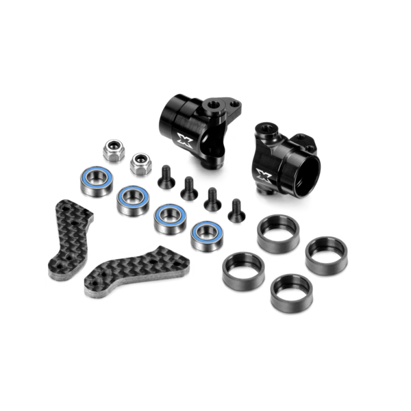 ALU STEERING BLOCKS WITH GRAPHITE EXTENSION PLATES - SET