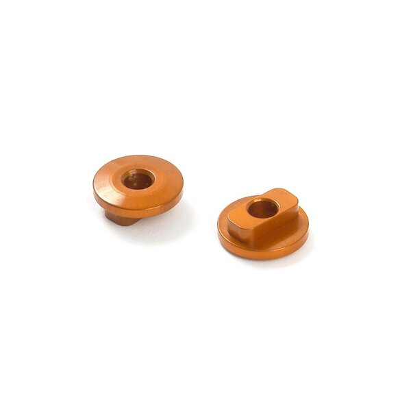 ALU RADIO PLATE BUSHING FIXED - ORANGE (2)