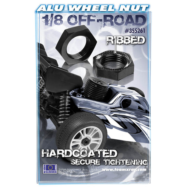 WHEEL NUT - RIBBED - HARD COATED (2)