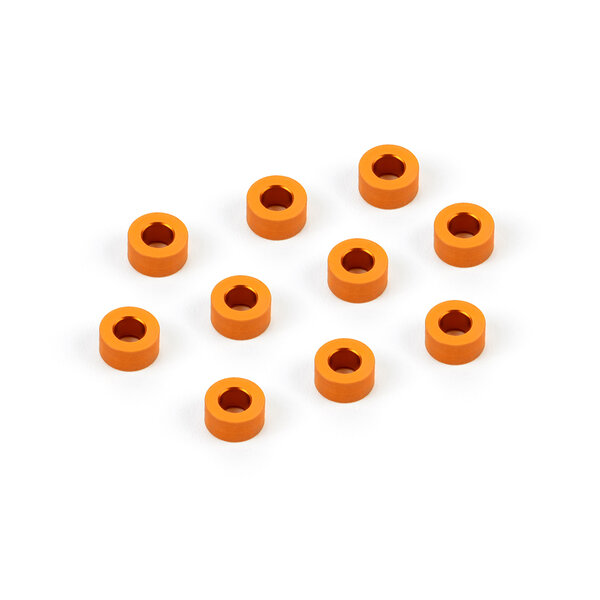 ALU SHIM 3x6x3.0MM - ORANGE (10)