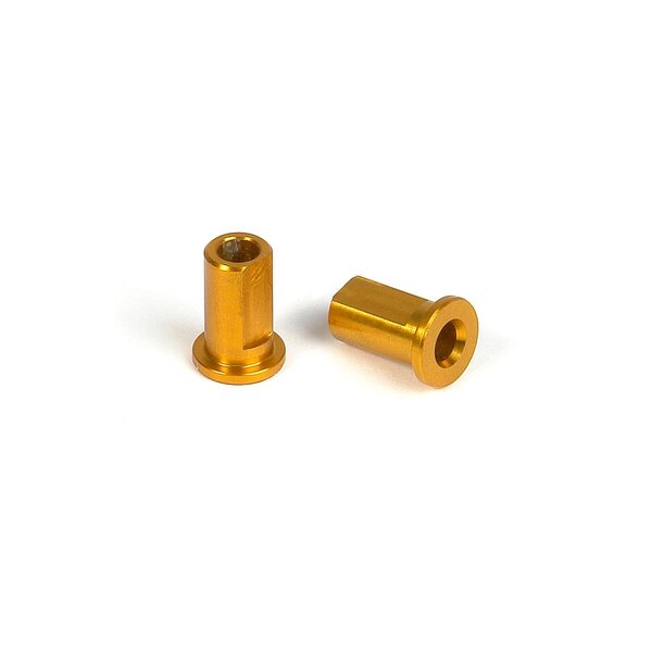 ALU NUT FOR SUSP. HOLDER - ORANGE (2)