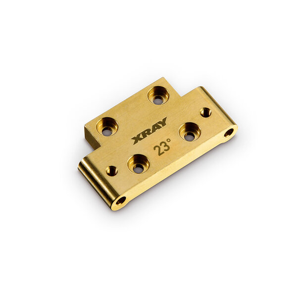 BRASS 46G FRONT LOWER ARM MOUNT 23°/29° KICK-UP