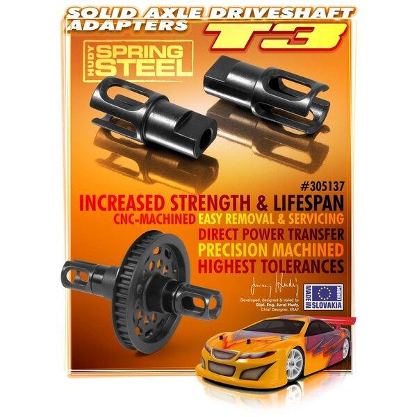 STEEL SOLID AXLE DRIVESHAFT ADAPTERS - HUDY SPRING STEEL™ (2)
