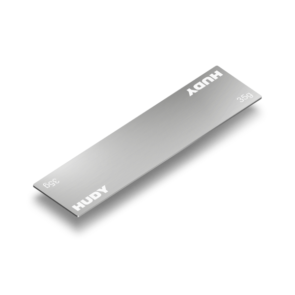 HUDY STAINLESS STEEL BATTERY WEIGHT FOR NARROW BATTERY PACK 35G