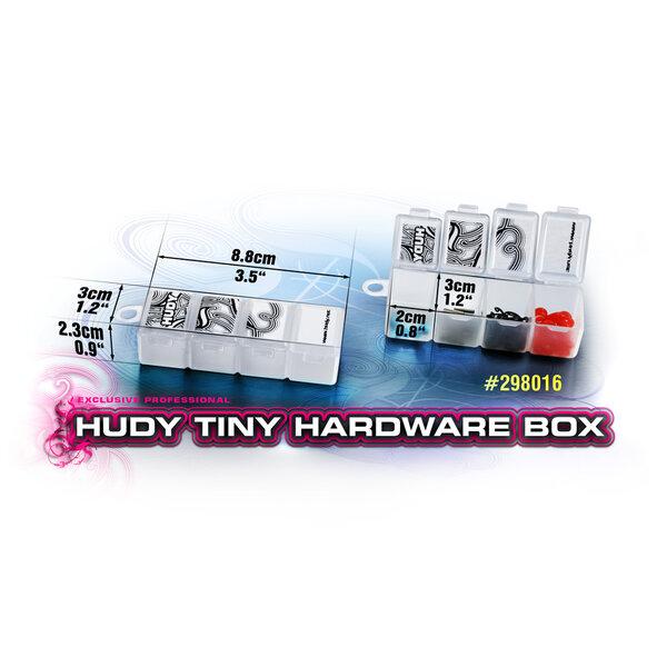 HUDY TINY HARDWARE BOX - 4-COMPARTMENTS