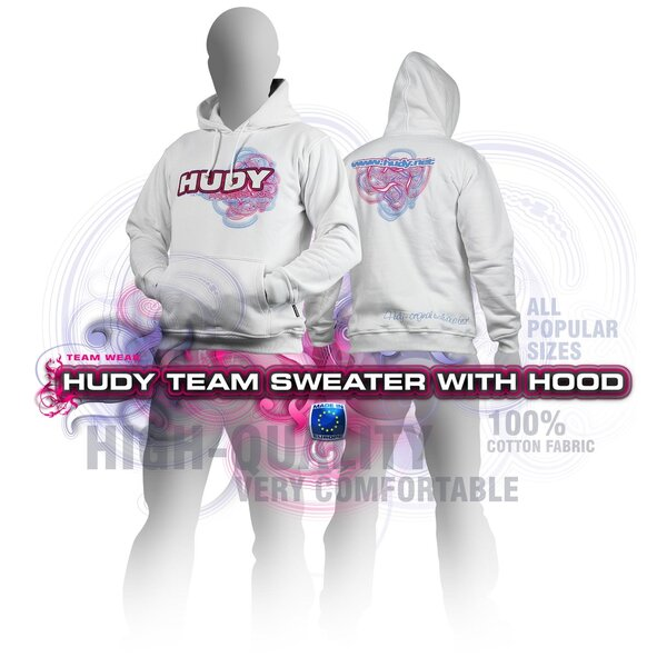 HUDY SWEATER HOODED - WHITE (XL)